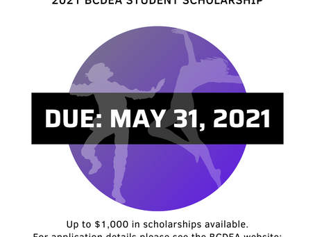 STUDENT SCHOLARHIPS APPLICATIONS are now open!