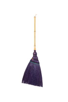 92-cm Bamboo Handle Broom (Purple)