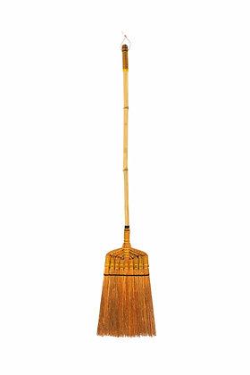 133-cm Bamboo Handle Broom (Ginger Brown)