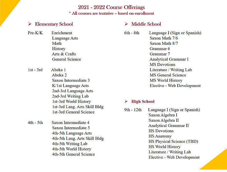 2021-2022 Academics - Web - Course Offer