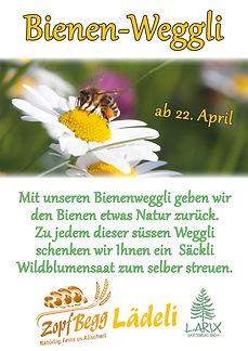 Bienen-Weggli geben wir den Bienen etwas Natur zurück. Wildblumensaat zum selber streuen als Geschenk zum süssen Weggli.