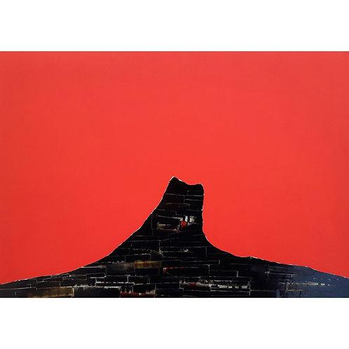 Alfonso Marino - Parole non dette, Scritture Vulcani - Collage -  Exclusive Galleria d'arte Papier