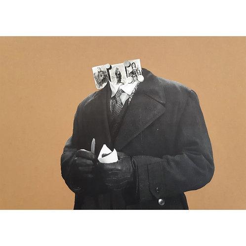Alfonso Marino - Carità, Colpi di Testa - Collage -  Exclusive Galleria d'arte Papier