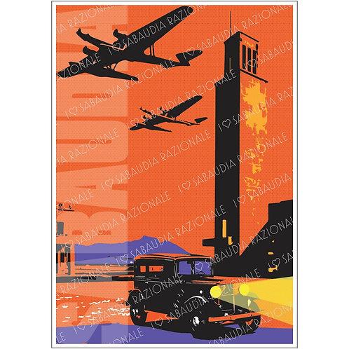 Sabaudia Frame 5 anni '30 in Arancio Manifesto A3 - Galleria Papier - Sabaudia Razionale
