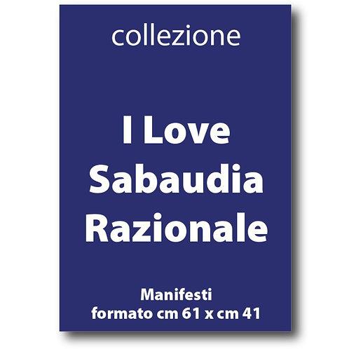 Serie completa dei manifesti di I Love Sabaudia Razionale - Galleria Papier - I Love Sabaudia Razionale
