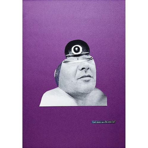 Alfonso Marino - Lei non sa chi ero io, Maquillage - Collage -  Exclusive Galleria d'arte Papier