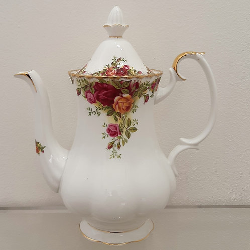 Caffettiera Royal Albert Old Country Roses del 1962 Galleria Papier