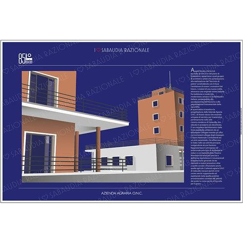 Manifesto della Azienda Agraria ONC di Sabaudia - Galleria Papier - Sabaudia Razionale