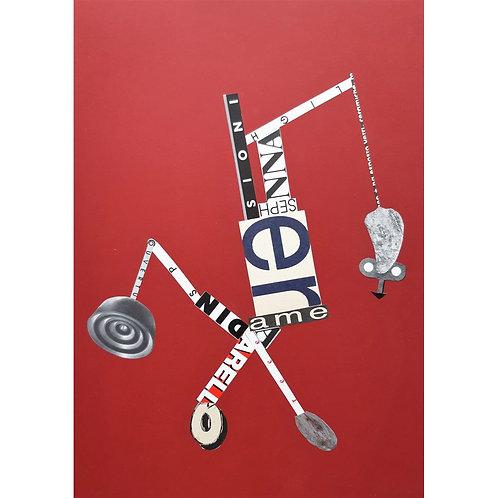 Alfonso Marino - Sioni, Scritture Carri - Collage -  Exclusive Galleria d'arte Papier