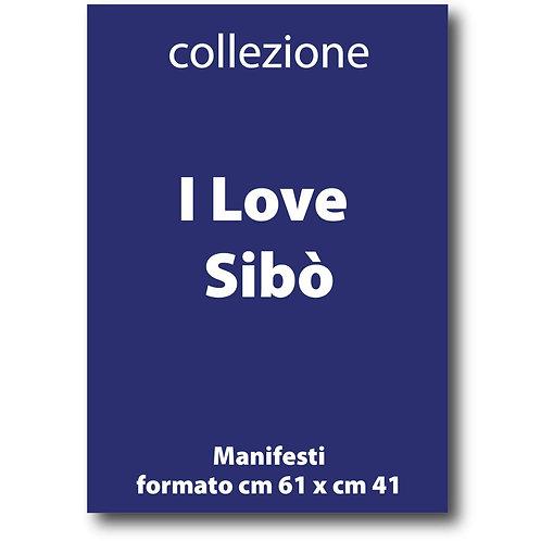 Serie completa dei manifesti I Love Sibò - Galleria Papier - I love Sabaudia Razionale