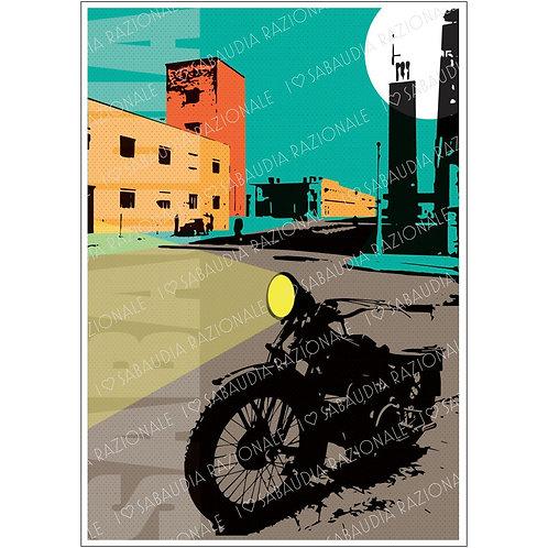 Sabaudia Frame 6 anni '30 in grigio Manifesto A3 - Galleria Papier - Sabaudia Razionale