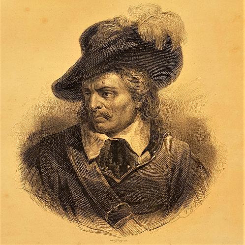 Cromwel incisione del 1840 Galleria Papier Chateaubriand