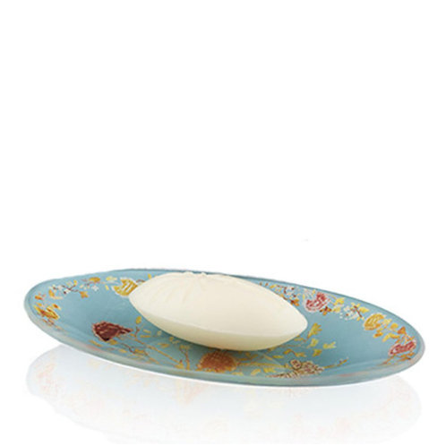 Ortigia Florio Glass Plate and Soap 40 gr - Profumo Profumeria Artistica Sabaudia