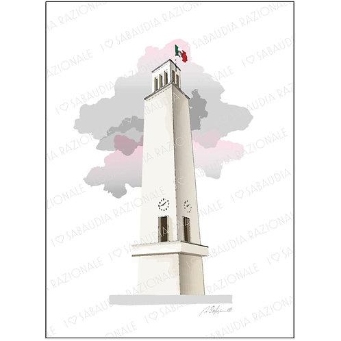Torre Littoria - Acquerello Razionale - Sabaudia Razionale for Galleria Papier