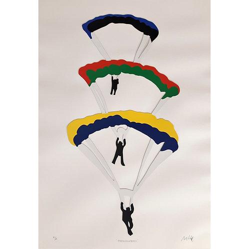 Marco Lodola - Paracadutisti 2002 - Galleria Papier