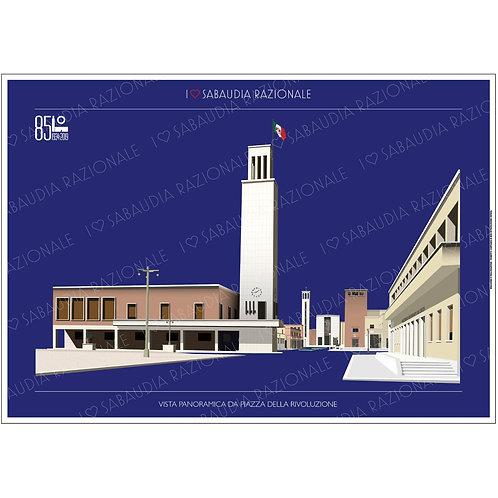 Vista panoramica da Piazza della Rivoluzione A3 - Sabaudia Razionale - Exclusive Galleria Papier