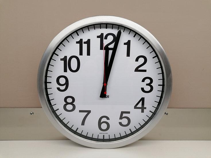 Orologio ARRIGHI a muro con cornice in alluminio, dimensioni Diametro cm. 35