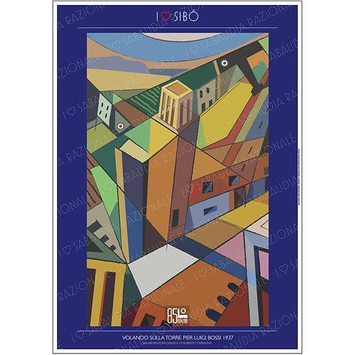 Volando sulla Torre 1937 (Sibò) in A3 - Sabaudia Razionale - Exclusive Galleria Papier