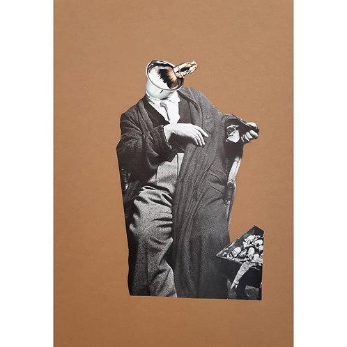 Alfonso Marino -  Pennelli, Colpi di Testa - Collage -  Exclusive Galleria d'arte Papier