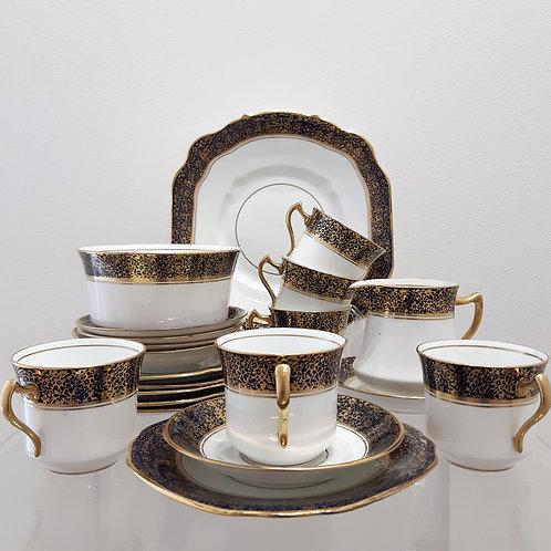Servizio da tea per 6 persone del 1921 Diamond Pottery Galleria Papier