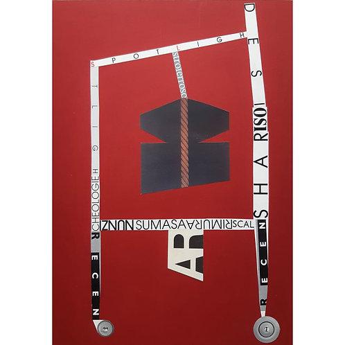 Alfonso Marino - Sumasa, Scritture Carri - Collage -  Exclusive Galleria d'arte Papier