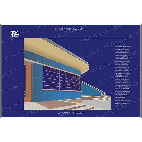 Manifesto Edificio Poste e Telegrafi (particolare) - Galleria Papier Sabaudia Razionale