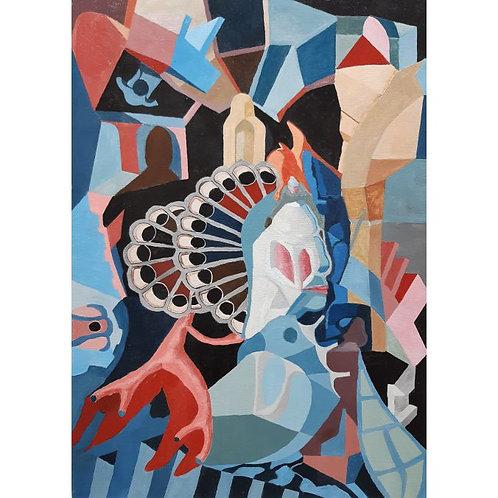 Claudio Compagnone - La maschera - olio su tela - Galleria d'arte Papier