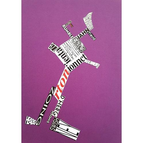 Alfonso Marino - Swish, Scritture Robot - Collage -  Exclusive Galleria d'arte Papier