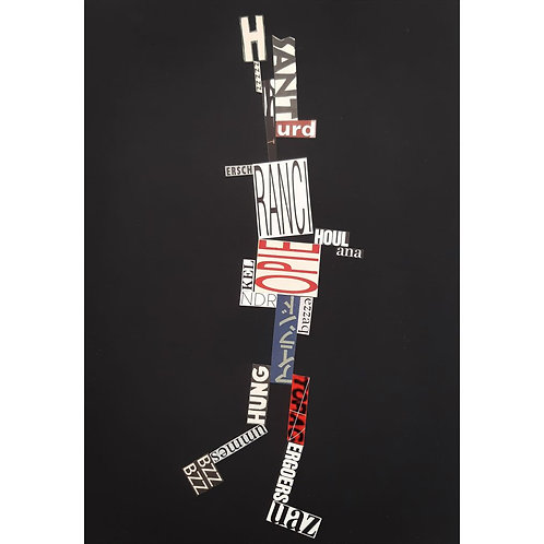 Alfonso Marino - UAZ, Scritture Robot - Collage -  Exclusive Galleria d'arte Papier