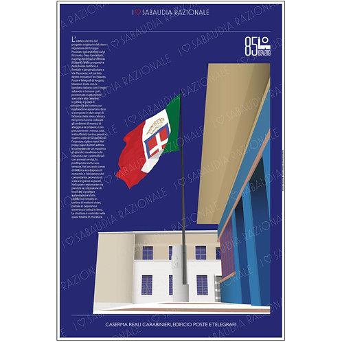 Manifesto della Caserma Reali Carabinieri di Sabaudia - Galleria Papier - Sabaudia Razionale