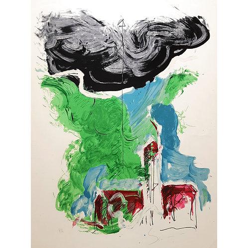 Mario Schifano - Paesaggio 1990 - Galleria Papier