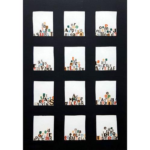 Alfonso Marino -  Carceri, Alfabeti - Collage -  Exclusive Galleria d'arte Papier