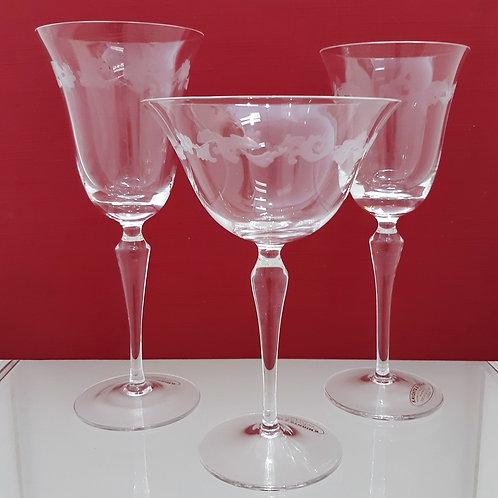 Servizio di bicchieri in cristallo Galleria Papier