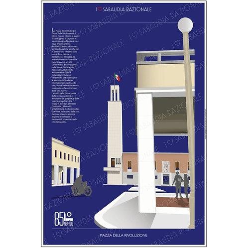 Manifesto della Piazza della Rivoluzione - Galleria Papier - Sabaudia Razionale