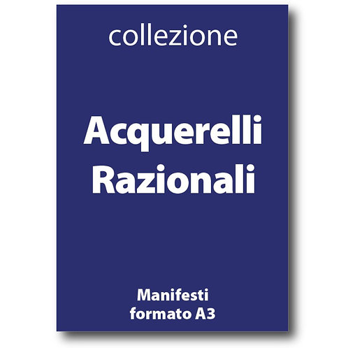 Serie completa degli Acquerelli Razionali di I Love Sabaudia Razionale - Galleria Papier