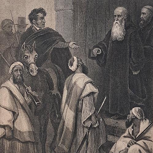 Chateaubriand il viaggio, Itinérarire incisione di Blanchard del 1842 Galleria Papier