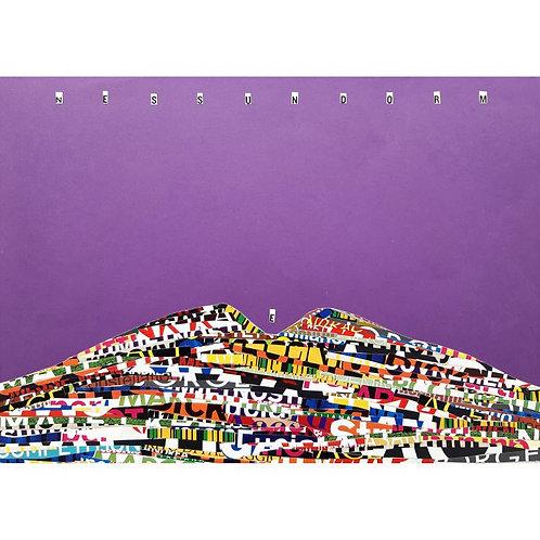 Alfonso Marino - Nessun Dorm e, Scritture Vulcani - Collage -  Exclusive Galleria d'arte Papier