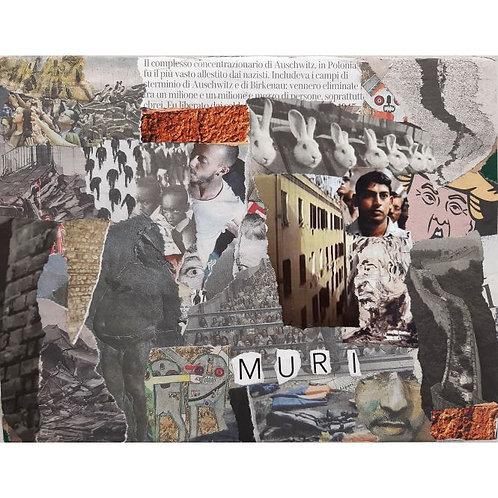 Alfonso Marino - Muri, Letture - Collage -  Exclusive Galleria d'arte Papier