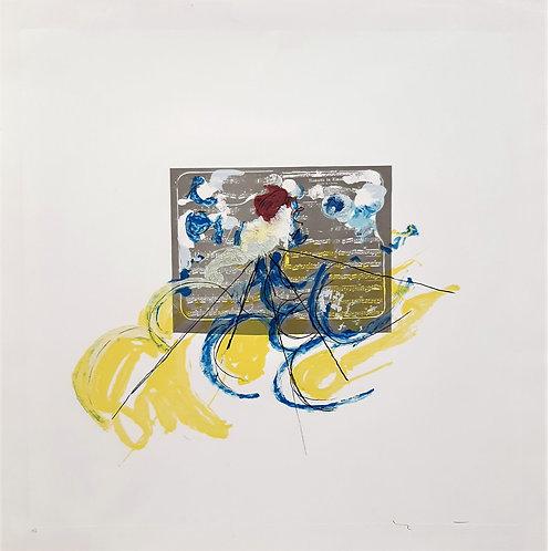 Mario Schifano - Musicale 1988 - Galleria Papier