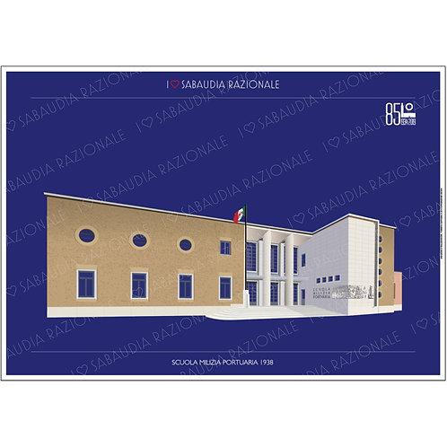 Scuola Milizia Portuaria A3 - Sabaudia Razionale - Exclusive Galleria Papier