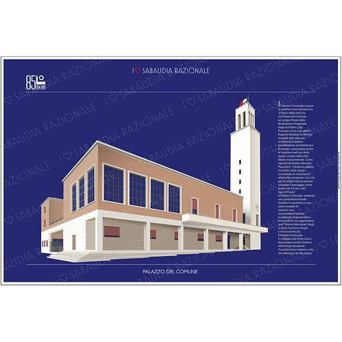 Manifesto Palazzo del Comune di Sabaudia Galleria Papier Sabaudia Razionale