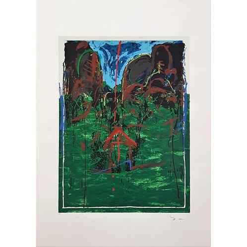 Mario Schifano - Casetta 1993 - Galleria Papier