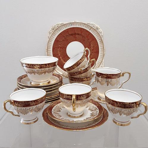 Servizio da tea per 6 persone 1950 Royal Stafford Galleria Papier