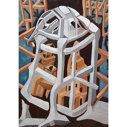 Claudio Compagnone - Il nido - olio su tela - Galleria d'arte Papier