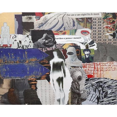 Alfonso Marino - Una macchina che si rompe, Letture - Collage -  Exclusive Galleria d'arte Papier