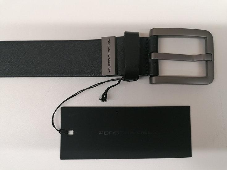 Cintura PORSCHE DESIGN cod. 4090000284 in pelle nera e fibia in acciaio