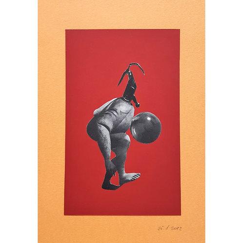 Alfonso Marino - A giocare a palla, Hallucinations - Collage -  Exclusive Galleria d'arte Papier