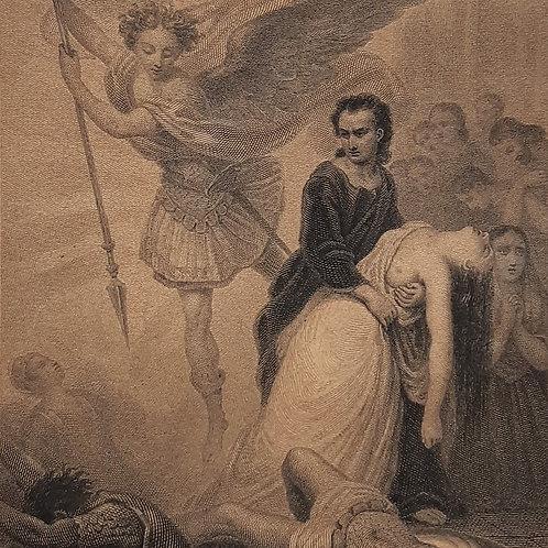 Chateaubriand Les Martyres Marckl incisione del 1842 Galleria Papier
