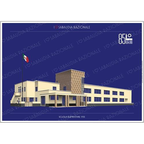 Scuola Elementare 1935 in A3 - Sabaudia Razionale - Exclusive Galleria Papier