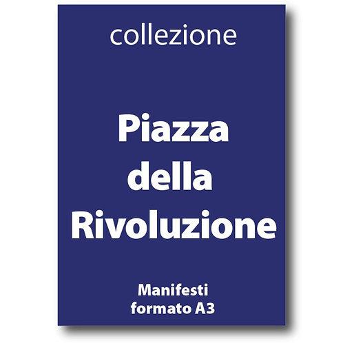 Serie completa dei manifesti delle Piazze della Rivoluzione in formato A3 - Galleria Papier - I Love Sabaudia Razionale